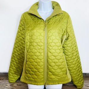 L.L. Bean Lime Green Quilted Puffer Parka Jacket